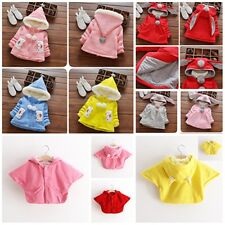 New Baby Girls Hooded Coat Cloak Outwear Age 9-12/12-18/18-24 Months / 2-3 Years