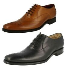 'Mens Loake' Pointed Square Toe Lace Up Formal Shoes - Gunny