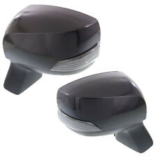 New Set Of 2 LH & RH Side Heated Power Mirror With Sgl Lamp Fits Subaru Forester
