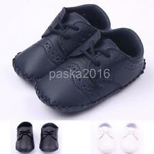 Warm Lace Up Toddler Baby PU Crib Shoes Sneakers Baby First Walking Shoes