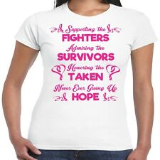 Supporting The Fighters Survivor Breast Cancer Awareness Junior Fit Tee T Shirt