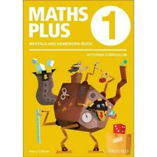 NEW Maths Plus VIC Aus Curriculum Edition Mentals & Homework Book 1 2016 by Harr