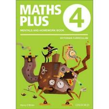 NEW Maths Plus VIC Aus Curriculum Edition Mentals & Homework Book 4 2016 by Harr
