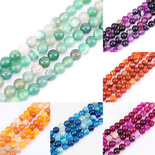 1Bunch Smooth Wholesale Natural Gemstone Loose Spacer Bead 4/6/8/10/12mm 6Colors