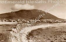 Mayo Achill Keel and Slievemore Mountain Old Irish Photo - Size Selectable