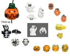 Halloween Lampwork Glass Beads  ~ Ghost, Bat, Spider, Pumpkin, Candy Corn & More