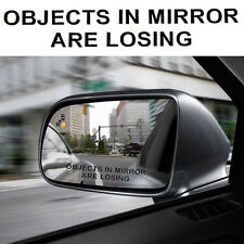 Reflective White/ Black Rear View Mirror vehicle Truck Car Stickers Decals 2PCS