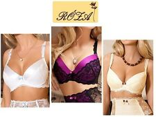Roza Lingerie European Fifi Luxury Push Up Bra In Black, White Or Ivory
