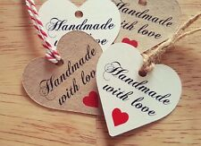 5 Wedding Gift Tags Handmade Gift/Luggage Tags Labels, Brown Kraft Card
