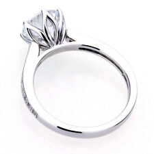 8mm Platinum Plated Silver 2ct CZ 6 Prong Solitaire Wedding Engagement Ring set