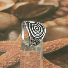 STERLING SILVER SPIRALS RING SOLID.925 /NEW JEWELERY  SIZE J - U