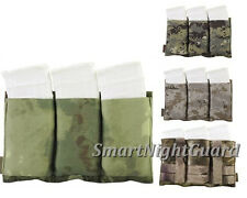 4 Colors Tactical Molle Triple 5.56/.223 Magazine Pouch Holder Hunting Gear AOR