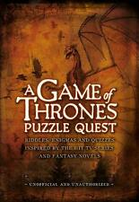 NEW A Game of Thrones Puzzle Quest by Tim Dedopulos Hardcover Book Free Shipping