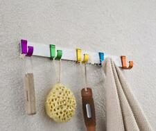 WALL MOUNTED HOOKS TOWEL COAT CLOTHES HANGER BATHROOM KITCHEN TIDY RACK 4 STYLES