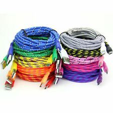 1M 2M 3M Braided Fabric Micro USB Data Sync Charger Cable Cord For Cell Phone