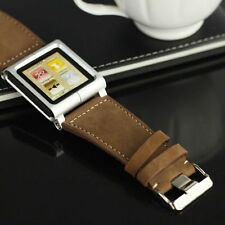 Leather Multi-Touch Wrist Strap Watch Band Cover For iPod Nano 6 6th 6g
