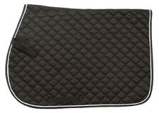 Tough 1 EquiRoyal Square Quilted Cotton Comfort English Saddle Pad, Hunter Green