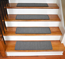 "Dean Non-Slip Pet Friendly Natural Sisal Carpet Stair Treads - Island Gray 29"" W"