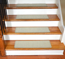 "Dean Non-Slip Pet Friendly Natural Sisal Carpet Stair Treads - Island Sand 29""W"