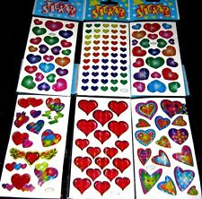 Bulk Lot x 48 Mixed Heart Sticker Sheets 1144 Stickers New Party Favor Free Post