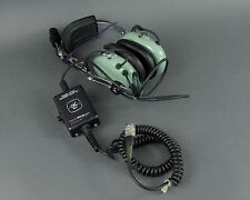 David Clark H7030 2-Way Aviation Communication Headset w/ Microphone & Adapter