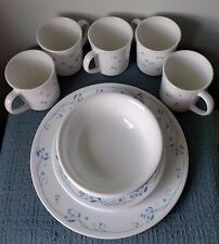 """CORELLE by Corning ~ """"Provincial Blue"""" ~ DINNER PLATE, SALAD PLATES, BOWLS, MUGS"""