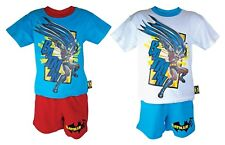 Boys Childrens 100% Cotton Batman Short Sleeve Top and Shorts Pyjamas Pjs Set