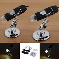 8LED USB Digital Microscope Endoscope 2MP Mega Pixels Camera Magnifier 50X-1000X