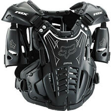 06066-BW Fox Airframe MX ATV Chest Back Protector Roost Guard Adult Large