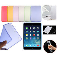 Soft Clear Silicone Shockproof Back Case Cover For Apple iPad 2/3/4 Mini Air/Pro