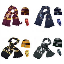 NEW Harry Potter Gryffindor House Scarf + Tie +Hat/Cap Costume Accessory Cosplay