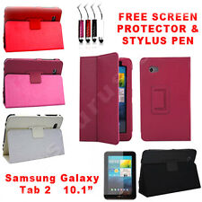2X Leather Smart  Case Cover for Samsung Galaxy Tab 2 10.1 P5100 P5110 P5113