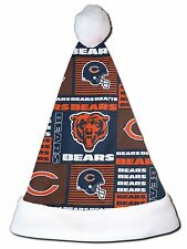 NEW NFL Chicago Bears Christmas Football Santa Hat Personalized 18""