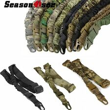 Tactical Hunting Single Point Adjustable Bungee Rifle Gun Sling Strap Rope