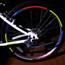 4X Fluorescent Cycling Bike Bicycle Wheel Rim Reflective Decal Sticker Reflector