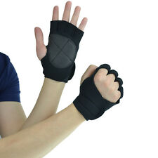 Weight Lifting Gloves Gym Exercise Fitness Padded Body Building Training Mitts