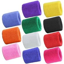Cotton Sweatband Wristband Wrist Sweat Bands Gym Yoga Running Basketball Tennis