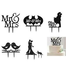 Wedding Party Mr Mrs Bride Groom Lover Couple Cake Topper Engagement Decoration
