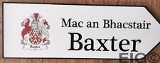 Baxter - Family Crest Coat of Arms on Wooden Sign - Wall Plaque