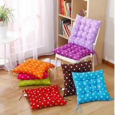 Outdoor Dining Garden Patio Chair Seat Pad Dots Print Tie On Cushion 8 Colors