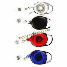 Badge Reel Clip Carabiner Retractable Recoil YoYo Ski Pass Id Card Holder Key