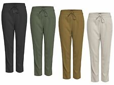 Ladies LINEN Trousers Trousers SUMMER LINEN STRING PANTS PNT NOOS 15115380 NEW