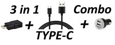 3 IN 1 TYPE C USB 3.1 COMBO CAR + WALL CHARGER + EXTRA LONG USB CABLE FOR LG G5