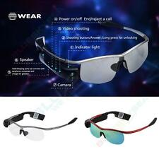 WEAR Smart WiFi Bluetooth Glasses Camera Headset Handfree Music For Android IOS