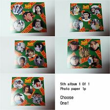 SHINee K-POP 5th 1 of 1 selected Official Photo paper 1p SM Idol group Photocard