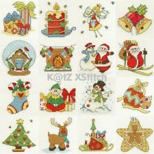 DMC - CHRISTMAS CROSS STITCH MINI KIT * 5% OFF 2+ * BK9997 (Choose From Sixteen)