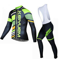 Cycling Jersey Set Long Sleeve Mountain Bike Bicycle Jersey & Bib Pants  S-5XL