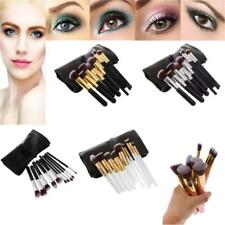 10x Pro Makeup Brushes Powder Foundation Puff Brushes Cosmetic Tool + Pouch Bag