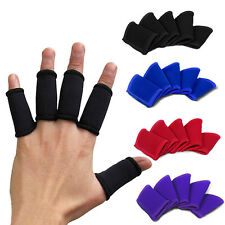 5 Pcs Stretchy Finger Sleeves Support Wrap Arthritis Guard Volleyball Basketball
