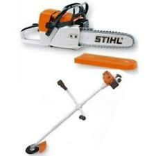 Selection of Stihl Toys, Chainsaw, Strimmer, Safety Kit